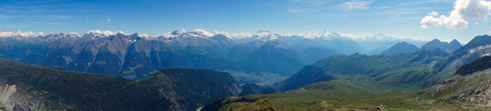 Panorama of the swiss alps Stock Photo