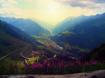 Panorama of the Swiss Alps Royalty Free Stock Photo