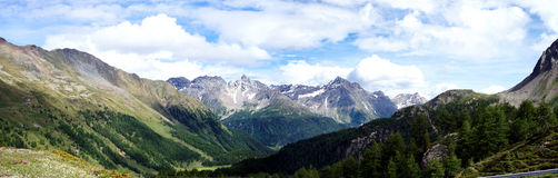 Panorama Swiss mountains Royalty Free Stock Images