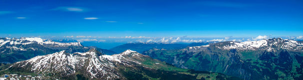 Panorama of Swiss mountains Stock Images