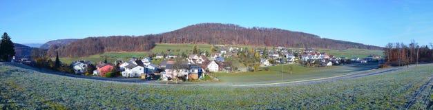 Panorama of Swiss village Hersberg. Royalty Free Stock Photo