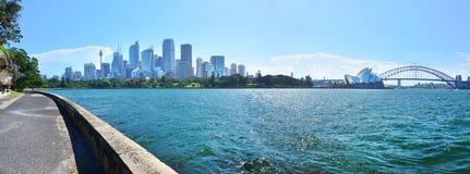 Panorama of Sydney Harbor Stock Photography