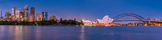 Panorama of Sydney and the Opera House, Australia royalty free stock images
