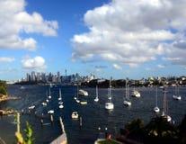 Panorama- Sydney stadssikt från Manns punkt Royaltyfria Foton