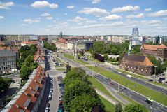 Panorama of Szczecin city Stock Images