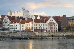 Panorama of Szczecin,old town and castle stock images