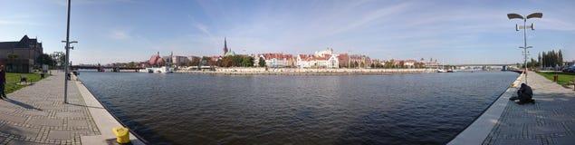 Panorama Szczecin. Stettin. Poland. Royalty Free Stock Images