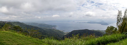 Panorama of Taal Lake and Taal Volcano Island Stock Images