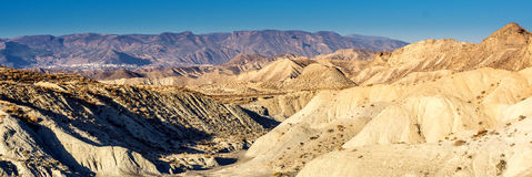 Panorama of Tabernas. Desert in the Andalusia, South of Spain stock photo