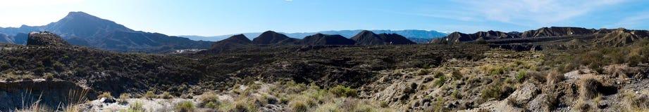 Panorama of Tabernas Desert in Spain Stock Photo