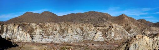 Panorama of Tabernas Desert in Spain Royalty Free Stock Photo