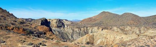 Panorama of Tabernas Desert in Spain Stock Images