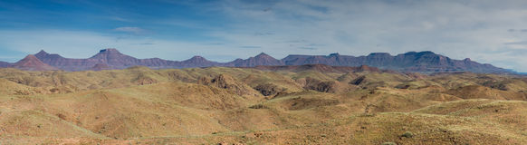 Panorama of table mountains Royalty Free Stock Photography