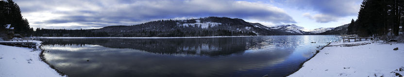 panorama- tahoe för lake arkivbild