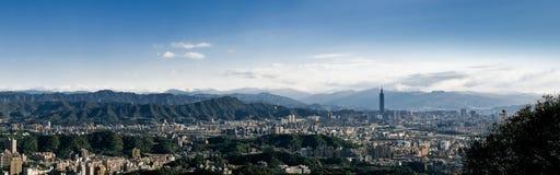 Panorama of Taipei City in Taiwan Stock Photography
