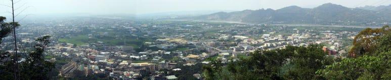 panorama- taiwan town Arkivfoton