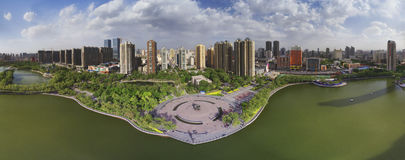 The panorama of Taiyuan City Royalty Free Stock Images