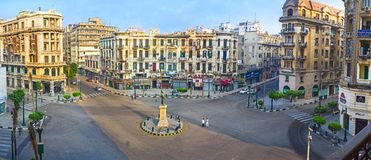 Panorama of the Talaat Harb Square Stock Photo