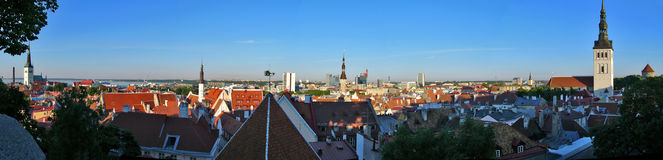 Panorama of Tallin Royalty Free Stock Photo