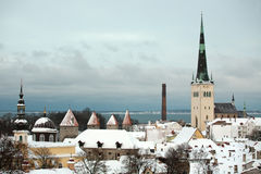 Panorama of Tallinn Stock Photo