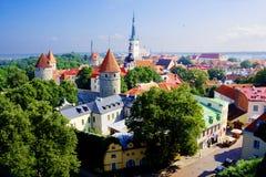 Panorama Of Tallinn Stock Photography