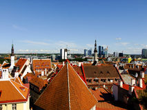 Panorama of Tallinn City, Estonia. Panorama of Estonias Capital City Tallinn from the high Point Stock Image