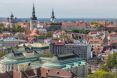 Panorama Of Tallinn City Stock Images
