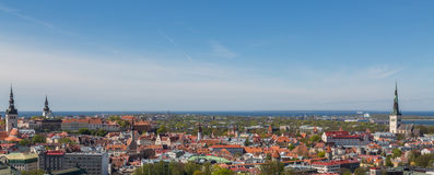 Panorama Of Tallinn City Royalty Free Stock Images