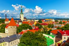 Panorama of Tallinn, Estonia Royalty Free Stock Image