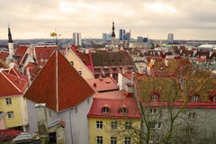 Panorama of Tallinn, Estonia, Europe Royalty Free Stock Image