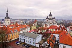 Panorama of Tallinn, Estonia, Europe Royalty Free Stock Photography