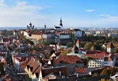 Panorama of the Tallinn Old Town Stock Images