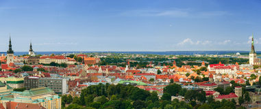 Panorama of the Tallinn Old Town, Estonia. Royalty Free Stock Photos