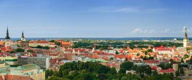 Panorama of the Tallinn Old Town, Estonia. Royalty Free Stock Photos