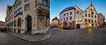 Panorama of Tallinn Old Town in the Morning, Tallinn Stock Images