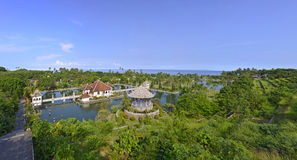 Panorama of Taman Ujung water palace on Bali Stock Images