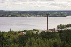 Panorama of Tampere, Finland stock images