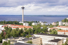 Panorama of Tampere, Finland Royalty Free Stock Images