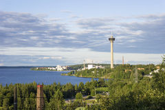 Panorama of Tampere, Finland Stock Photo