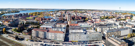 Panorama of Tampere Stock Photos