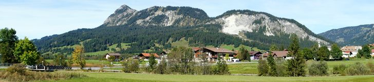 Panorama in the Tannheim Valley, Austria Royalty Free Stock Images