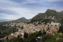 Panorama of Taormina Royalty Free Stock Photo