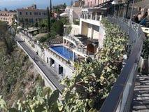 Panorama.Taormina. Imagem de Stock Royalty Free