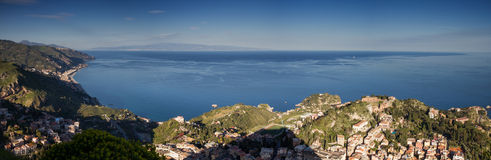 Panorama of Taormina Royalty Free Stock Image