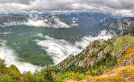 Panorama of Tara Canyon, UNESCO Royalty Free Stock Images