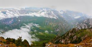Panorama of Tara Canyon, UNESCO Stock Image