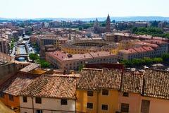 Panorama of Tarazona in sunny day.   Zaragoza Stock Image