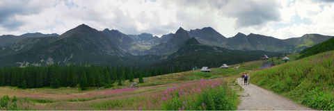 Panorama of the Tatras Stock Images