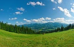 Panorama of Tatras Royalty Free Stock Photography