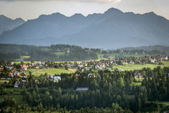 Panorama of Tatry mountains during summer Stock Image